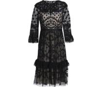 Embellished ruffled tulle dress