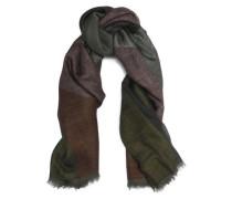 Fringe-trimmed Cashmere And Silk-blend Scarf Leaf Green Size --