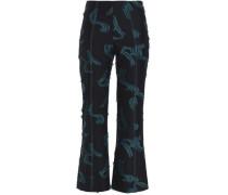 Fil Coupé Twill Kick-flare Pants Black