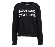 Printed French cotton-terry sweatshirt