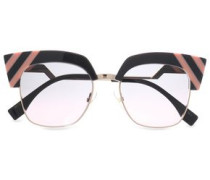 Cat-eye Acetate And Gold-tone Sunglasses Dark Gray Size --