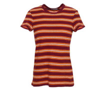 Striped Cotton-jersey T-shirt Merlot Size 0