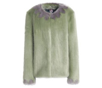 Polly Faux Fur Coat Light Green