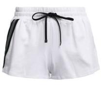 Beam Striped French Terry Shorts White