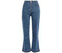 High-rise Bootcut Jeans Mid Denim