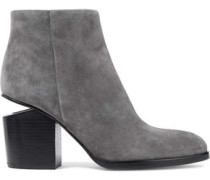 Gabi Suede Ankle Boots Gray