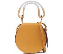 Leather Shoulder Bag Mustard Size --