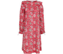 Jody Ruffle-trimmed Cotton-voile Dress Red