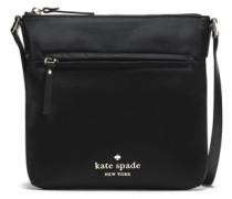 Leather-trimmed Shell Shoulder Bag Black Size --