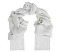 Metallic cashmere-blend scarf