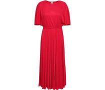 Cutout Jersey Midi Dress Red