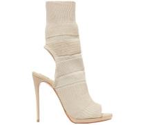 Woman Cheminene 120 Cutout Stretch-knit Sock Boots Beige