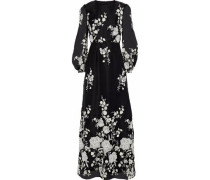 Embroidered organza maxi dress