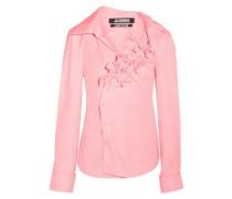 Woman Seville Ruffled Cotton-poplin Shirt Baby Pink