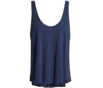 Slub cotton-jersey pajama top