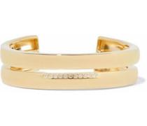 Gold-tone crystal cuff