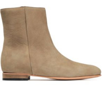 Rod Textured-leather Ankle Boots Sand
