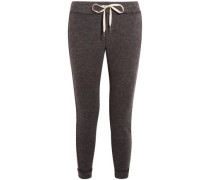Stretch-knit Track Pants Anthracite