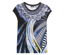 Printed stretch-jersey T-shirt