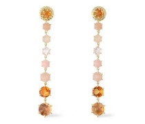 18-karat gold, crystal and stone earrings