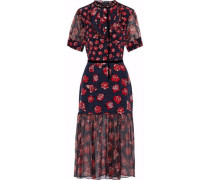 Susie floral-print silk-chiffon and crepe de chine midi dress
