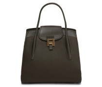 Bancroft smooth and pebbled-leather tote