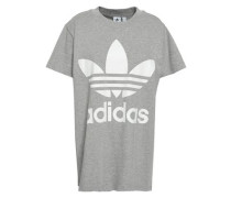 Printed Cotton-jersey T-shirt Light Gray  8