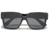 D-frame Glittered Acetate Sunglasses Black Size --
