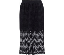 Layered embroidered tulle skirt