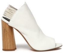 Drum Leather Slingback Sandals Off-white