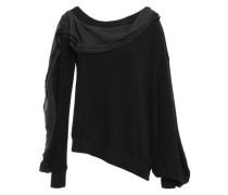 Ruffled Knitted Sweater Black