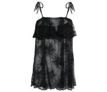 Ruffled Lace Camisole Black