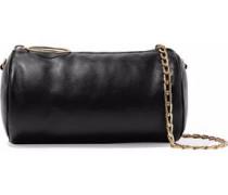 Puffer mini faux leather shoulder bag