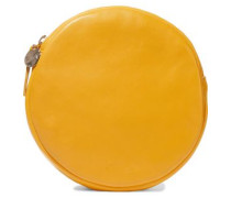 Circle Leather Clutch Yellow Size --
