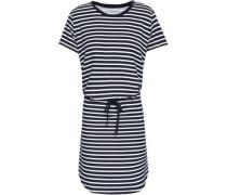 Striped Stretch-jersey Mini Dress Navy