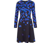 Crépe flared dress