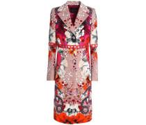 Printed cotton-blend jacquard coat