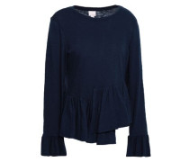 Aziza Slub Cotton Top Navy