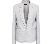 Will Brushed-twill Blazer Light Gray