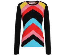 Intarsia-knit Wool-blend Sweater Multicolor