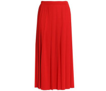 Pleated stretch-jersey maxi skirt