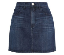 Celine Denim Mini Skirt Dark Denim