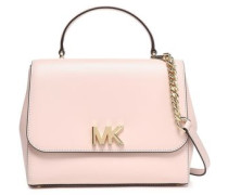 Leather Shoulder Bag Pastel Pink Size --