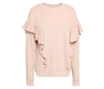 Ayana Ruffle-trimmed French Cotton-terry Sweatshirt Blush