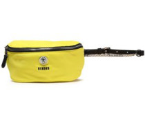 Leather-trimmed Shell Belt Bag Yellow Size --