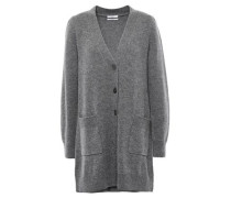 Mélange Wool And Cashmere-blend Cardigan Gray