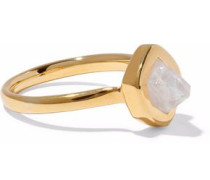Petra Stacking 18-karat gold vermeil moonstone ring