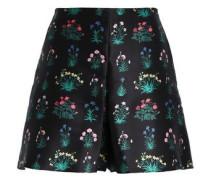 Floral-print satin shorts