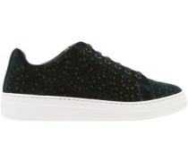 Velvet Sneakers Forest Green