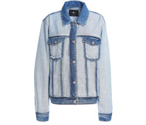 Paneled two-tone denim jacket